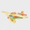 samolot z klocków • tęczowy • duży