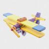 samolot z klocków • kolorowy • duży
