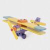 samolot z klocków • kolorowy • mini